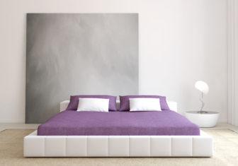 36049900 - modern bedroom interior. minimalism. 3d render.