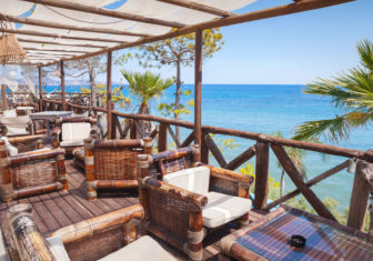 65373450 - seaside balcony view, popular touristic resort island zakynthos, greece